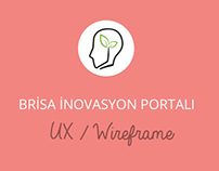 Brisa Innovation Portal Wireframe