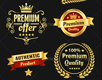 Golden Premium Badges