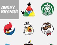 Les plus grandes marques version Angry Bird