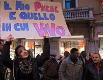 Via Padova a Milano spegne la fiaccolata della Lega.