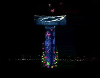 Kuwait Watertower Projection Mapping