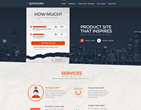 QuickLoan - Responsive HTML One Page Template