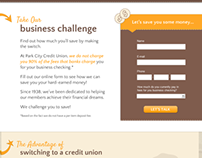 Park City CU Business Challenge Landing Page