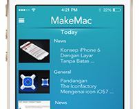 Concept MakeMac App Redesign for iOS7