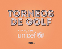 Golf Tournaments Posters for Unicef