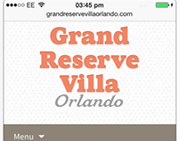 Grand Reserve Villa Orlando website