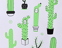 """Cactus"" Screen print"