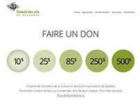 Conseil des arts de Saguenay 2013 Fundraising