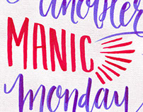 Manic Monday Lettering