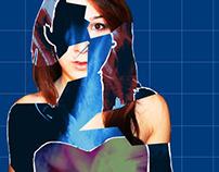 Blue, Print.