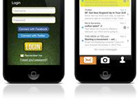 Signing Day iPhone App Concept UI/UX Design