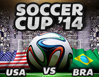 Soccer Cup Brazil 2014 Flyer Template