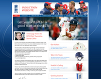 English Cricket Induction website