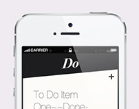 Do - Simple Clean to do list - iphone