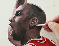 Michael Jordan 100x150cm - Acrilic on Canvas