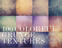 100 Colorful Grunge Textures – Graphic Design [2013]