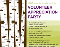 Volunteer Appreciation party posters