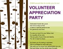 Volunteer Appreciation party posters