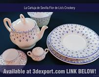 La Cartuja de Sevilla Flor de Lis's Crockery