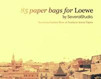 85 Flamenco paper bags for Loewe