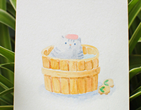 Hand-drawn Postcard