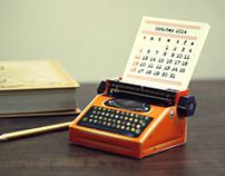 Realistic Mini Typewriter Calendar 2014: DIY paper