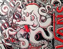 VANS X MIDI Festival Wall Graffiti 2013