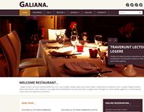 Galiana - Responsive Restaurant Joomla 3 Template