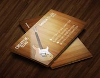 musician wooden business card