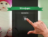 Silverlight touch application El Corte Ingles