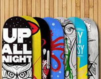 Skate decks, skateboard designs