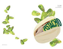 Pistachio Illustration for book cover