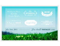 Wedding Site and Invitation Design