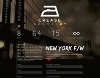 CREASE for Dear Earth // Site Design for NYFW Campaign
