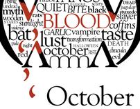 Typography Calendar: October
