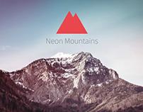 Neon Mountains Band Logo