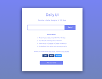 Daily UI Challenge: Landing Page above the fold
