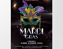 Mardi Gras Party - Free PSD Flyer Template