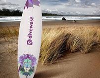 Divewest - Surf Logo Design