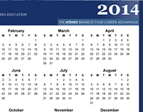 ATENEO CCE 2014 DESK CALENDAR