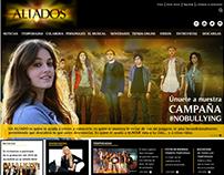 """Página Web, serie """"Aliados"""""""