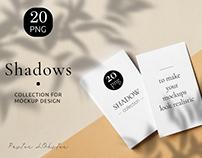 Shadow Mockup Set for Realistic Presentation Branding