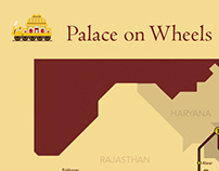 """Palace on Wheels"" Schematic Map"