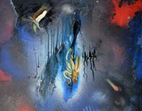 mixed media painting 3