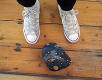 Space rock door stop