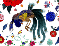 Chinoiserie pattern design