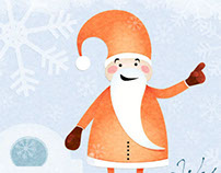Orange Santa - Chrismas Card