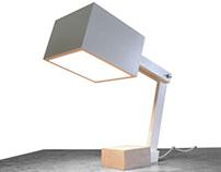 Beton hout tafellamp
