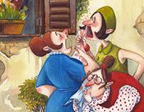 """Illustrations for """"Favole al Telefono"""" by G. Rodari"""