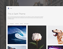 Saint - Minimal Grid Based Tumblr Theme